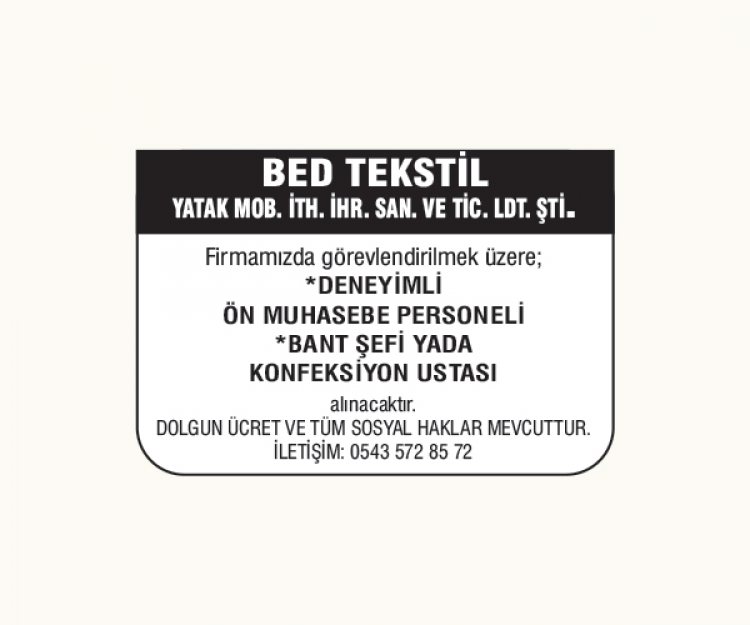 BED TEKSTİL