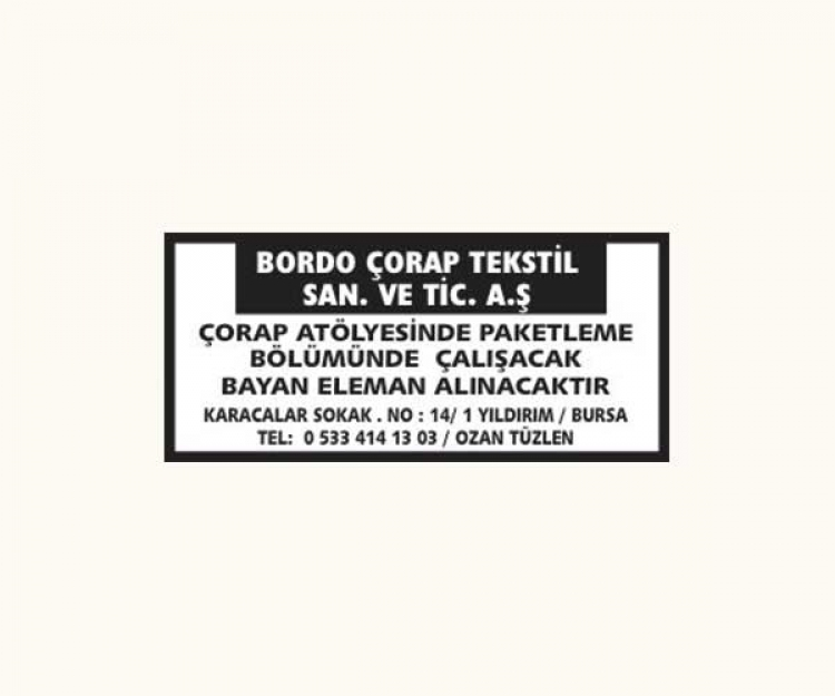 BORDO ÇORAP TEKSTİL