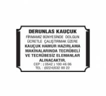 DERUNLAS KAUÇUK
